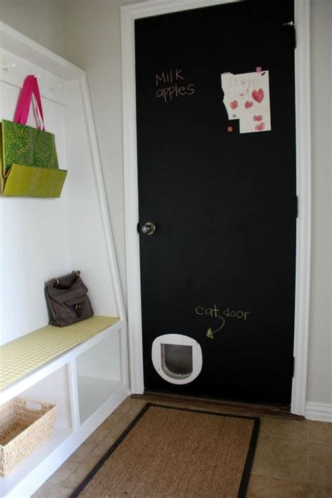 Cat Door Litter Box In Garage Pets Pinterest Cats Cat Doors For Garage Doors