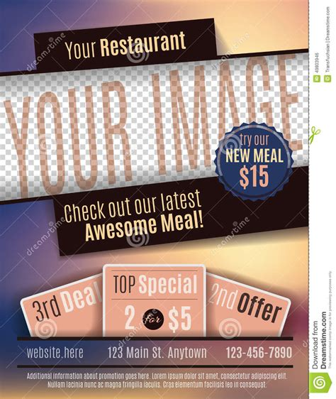 offer advertisement template restaurant flyer advertisement template stock vector