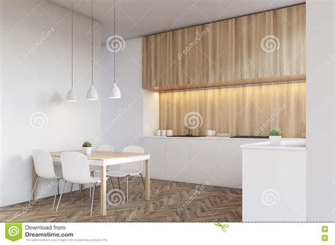 side view of kitchen interior royalty free stock photo