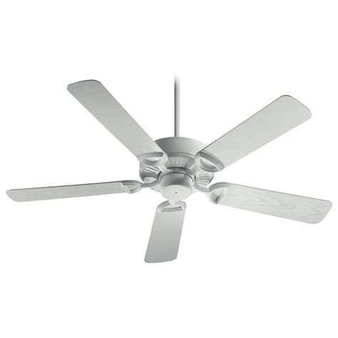 white ceiling fan without light quorum lighting estate patio white ceiling fan without