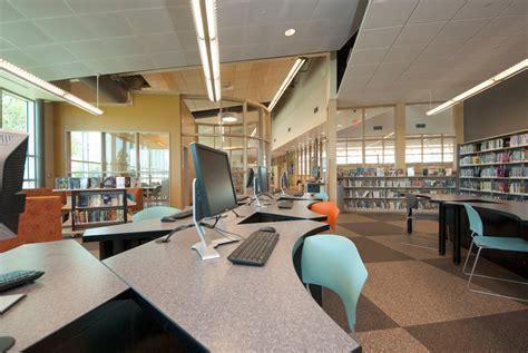 t2 design computer stations library interiors of texas