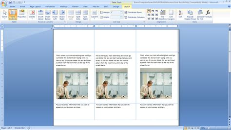 microsoft word print layout view how to create your own door hangers burris computer forms