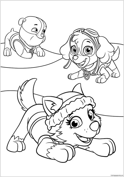 paw patrol spring coloring pages paw patrol 20 coloring page free coloring pages online