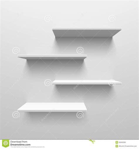 Stock Shelf by White Shelves Stock Vector Illustration Of Bookshelf 35942360