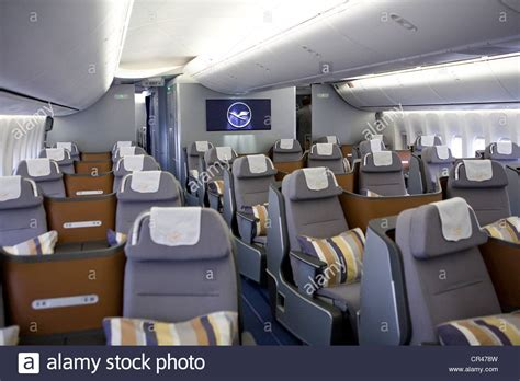 Section Class Html by The Business Class Section Of A Lufthansa Boeing 747 8 Stock Photo Royalty Free Image 48651369