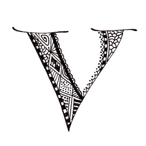 tattoo letter v designs maori inspired alphabet