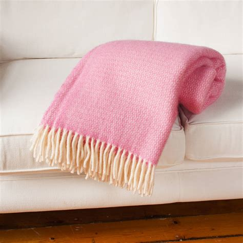 what is a throw blanket wool throw blanket in pink and lilac by jodie
