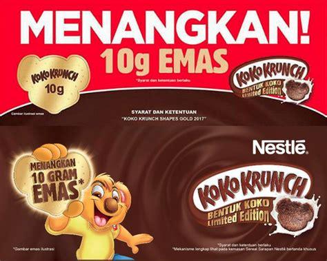 Koko Krunch Kecil promo koko krunch shapes gold 2017 berhadiah 100 keping emas