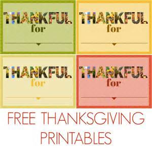 thankful for printables from mad in crafts