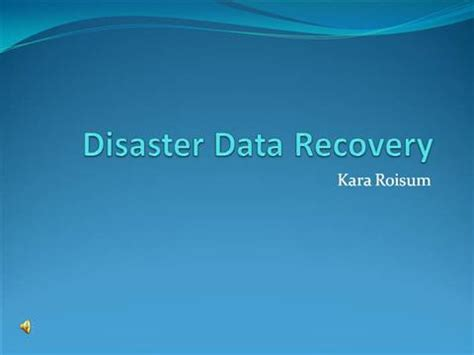 Disaster Recovery Authorstream Disaster Recovery Powerpoint Template