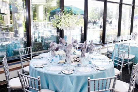 light blue and silver wedding white centerpiece light blue and silver wedding