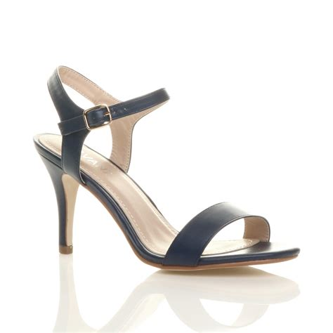 barely there sandals womens high heel buckle strappy basic barely there