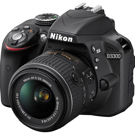 dslr nikon nikon d3300 dslr with 18 55mm lens black 1532 b h
