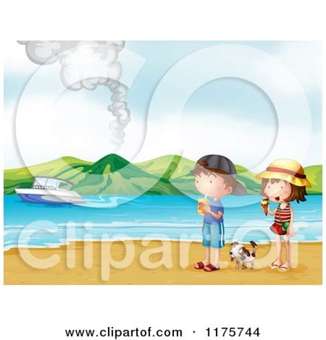 love boat ice cream history cartoon of children on a beach with ice cream and boat in
