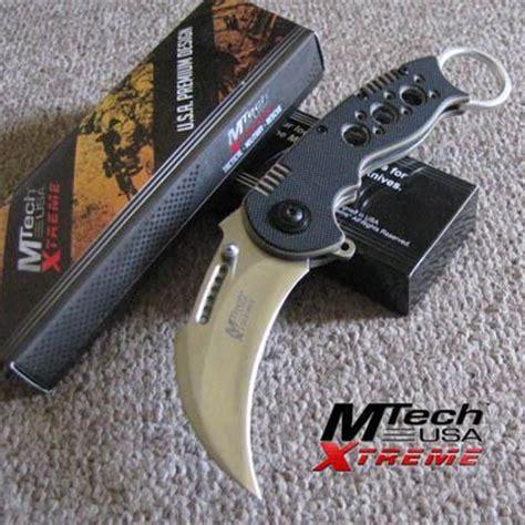 tiger pocket knife mtech xtreme tiger claw karambit folding pocket knife