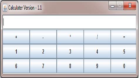 simple calculator in java swing java programs simple calculator in java