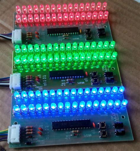 Led Vu Display mcu adjustable display pattern led vu meter level