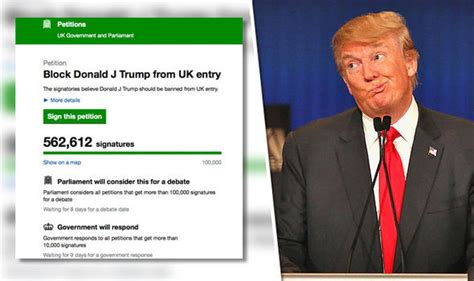 donald trump uk petition to ban donald trump signed multiple times by same