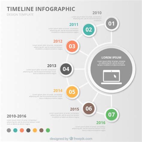 Circular Timeline Vector Free Download Circular Timeline Template