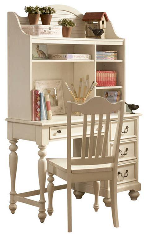 Lea Retreat White Desk With Hutch In Antique White Antique White Desk With Hutch