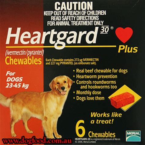 heartgard for puppies buy heartgard plus 6 chewables for dogs up to 23 45kg from sydneydogfood a