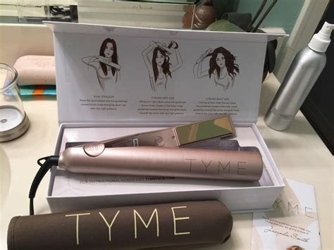 Tyme Pro Iron - gold plated titanium tyme curling iron hair straightener
