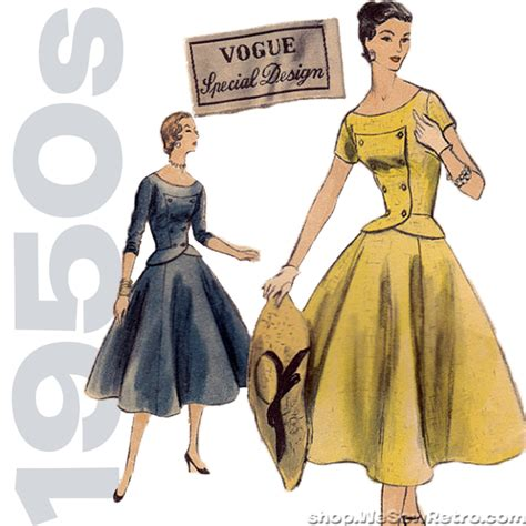 1950s vogue special design vintage sewing pattern vogue s 4607 two piece dress pattern my