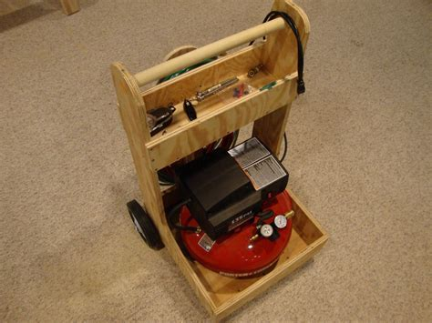 woodworking air compressor air compressor cart by walkeratl lumberjocks