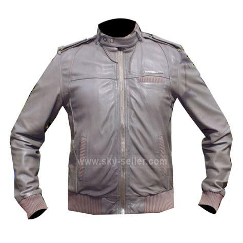 jacket design for unisex designer grey bomber cafe racer style unisex leather jacket