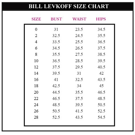 bill levkoff size chart bill levkoff bridesmaid dresses bill levkoff 1164 bill