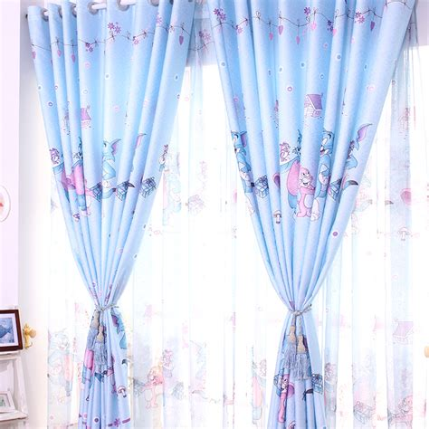 pink and blue curtains hot sale cartoon curtains for living room blue pink tom