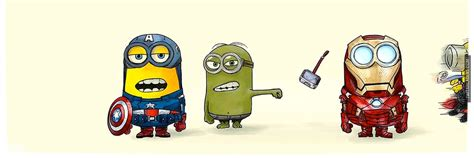 marvel layout twitter minions as the avengers twitter header cover