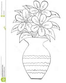 Drawing Of Flowers In Vase by Flowers In A Vase Colored Drawing Www Imgkid The