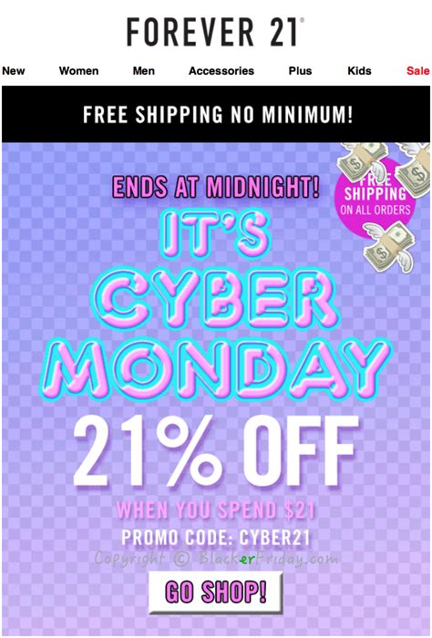 Forever 21s 21 Daily Specials by Forever 21 Cyber Monday 2017 Sale Deals Blacker Friday