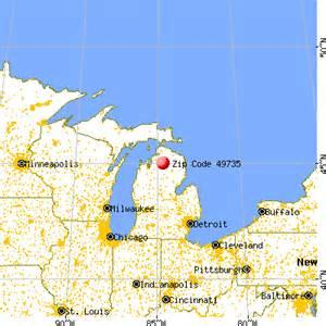 Gaylord Michigan Map by 49735 Zip Code Gaylord Michigan Profile Homes
