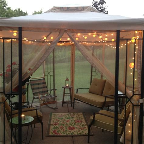 garden gazebo decor with solar powered gazebo lights and