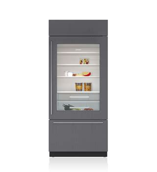 refrigerator with glass door for homes built in refrigeration bi 36rg o sub zero wolf