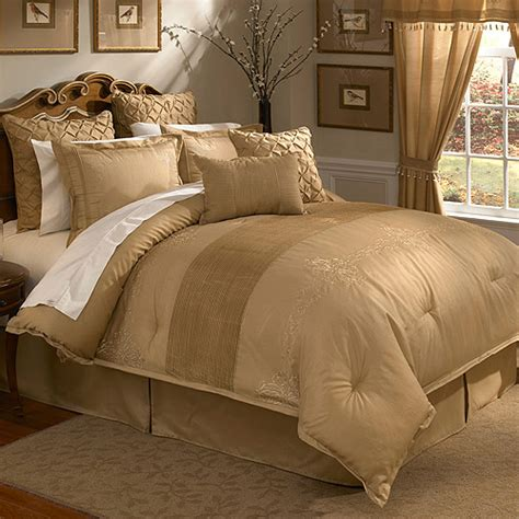 gold bedding sets veratex lantana 4 piece comforter set walmart com