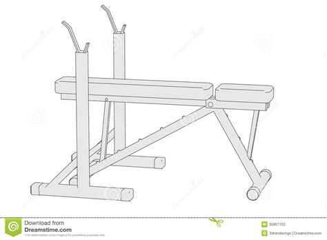 cartoon bench press image of benchpress machine stock photos image 35967103