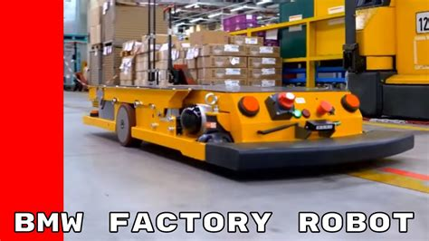 bmw factory robots bmw factory smart transport robot youtube
