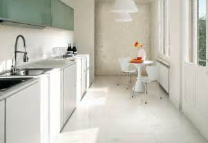 White Tile Kitchen Floor White Kitchen Ceramic Tile Textured Wall Interior Design Ideas