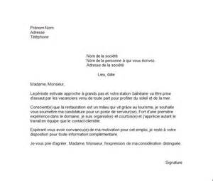 Lettre De Motivation Vendeuse Serveuse Lettre De Motivation Serveuse Le Dif En Questions