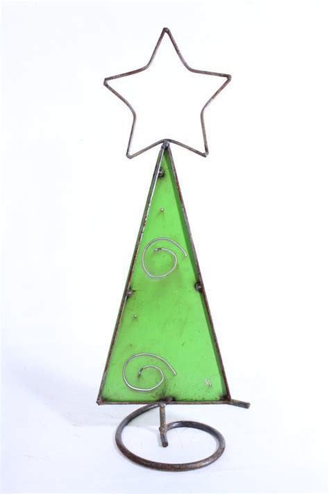 24 quot small metal christmas tree star on top holiday decor