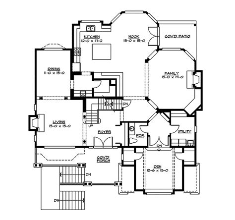 two level floor plans freestone multi level home plan 071s 0013 house plans