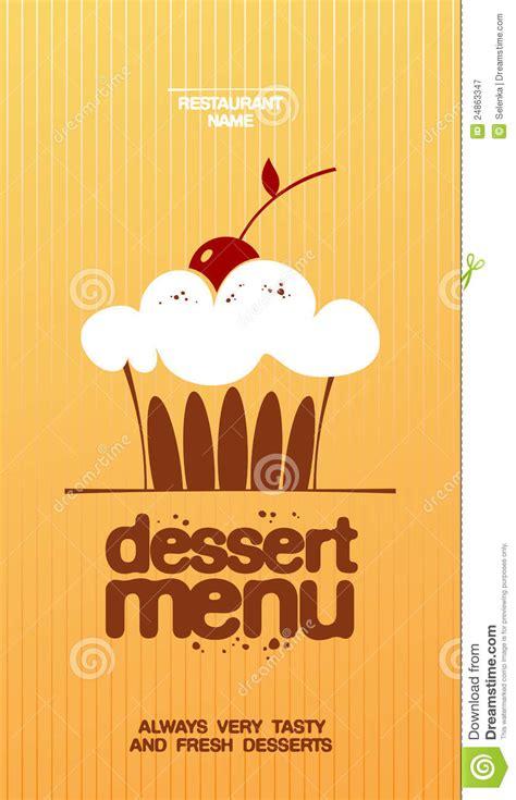 Dessert Menu Stock Vector Illustration Of Illustration 24863347 Dessert Menu Template Free