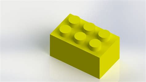 tutorial solidworks lego solidworks tutorial 5 lego brick part 1 of 2 youtube