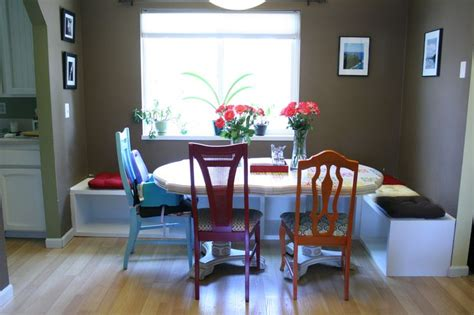 diy dining table booth seating home
