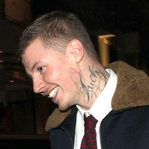 tattoo on professor green s neck frankie cocozza rihanna cheryl cole the worst tattoos