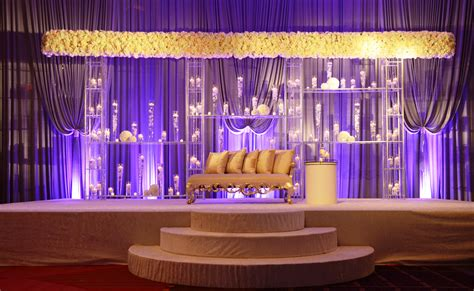 design event usa modern indian wedding ceremony with wide all floral mandap