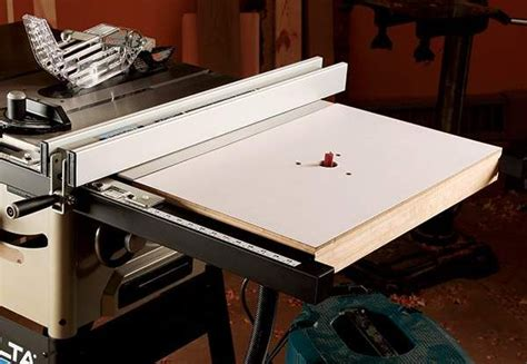 how to make a router table extension for your table saw